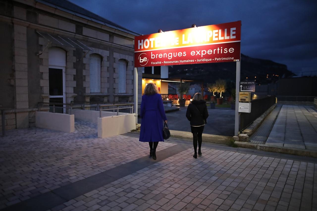 Millau 2020 Campagne pour les Elections Municipales Christophe Saint Pierre rencontre avec les commerçants