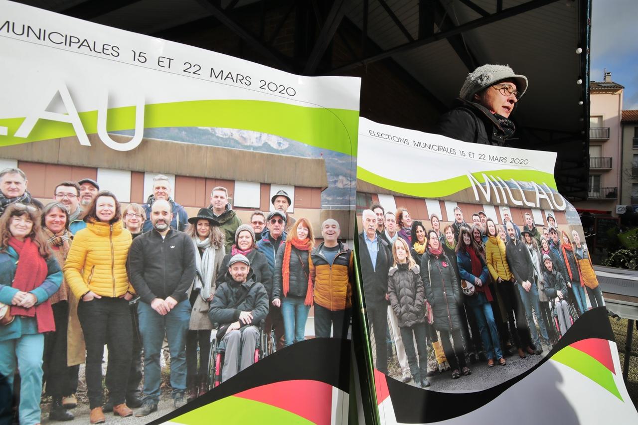 Millau 2020 Elections Municipales campagne électorale marché du 21 février